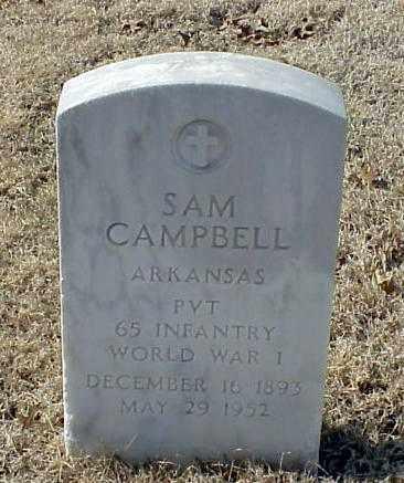 CAMPBELL (VETERAN WWI), SAM - Pulaski County, Arkansas   SAM CAMPBELL (VETERAN WWI) - Arkansas Gravestone Photos