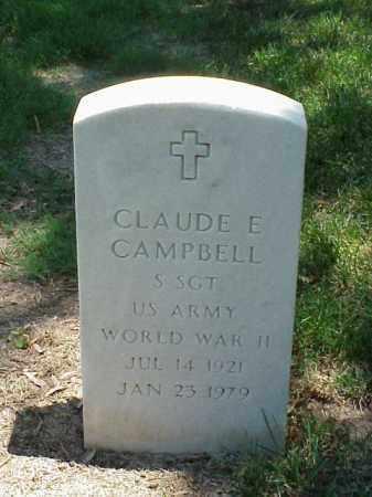 CAMPBELL (VETERAN WWII), CLAUDE E - Pulaski County, Arkansas | CLAUDE E CAMPBELL (VETERAN WWII) - Arkansas Gravestone Photos