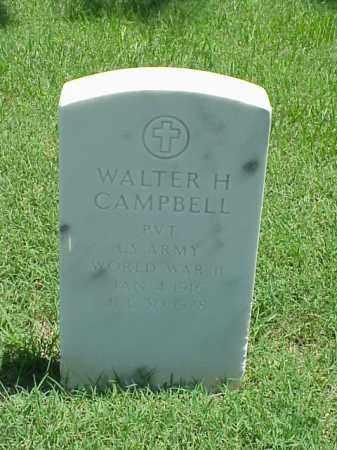 CAMPBELL (VETERAN WWII), WALTER H - Pulaski County, Arkansas | WALTER H CAMPBELL (VETERAN WWII) - Arkansas Gravestone Photos
