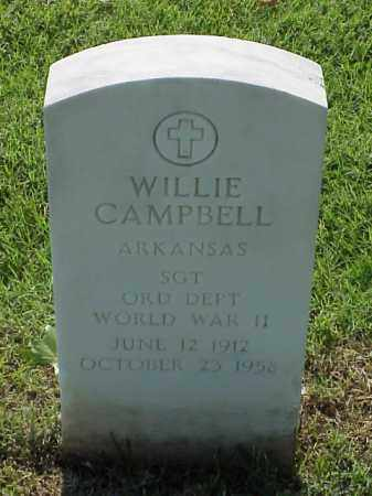 CAMPBELL (VETERAN WWII), WILLIE - Pulaski County, Arkansas | WILLIE CAMPBELL (VETERAN WWII) - Arkansas Gravestone Photos