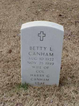 CANHAM, BETTY L - Pulaski County, Arkansas   BETTY L CANHAM - Arkansas Gravestone Photos