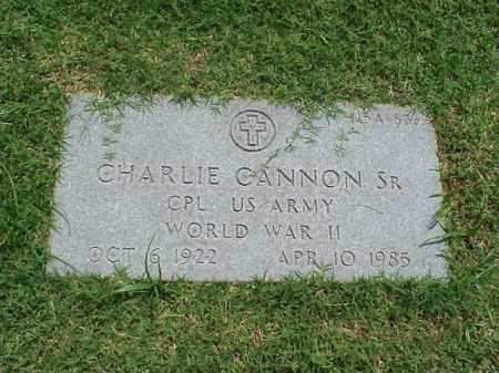 CANNON, SR (VETERAN WWII), CHARLIE - Pulaski County, Arkansas | CHARLIE CANNON, SR (VETERAN WWII) - Arkansas Gravestone Photos