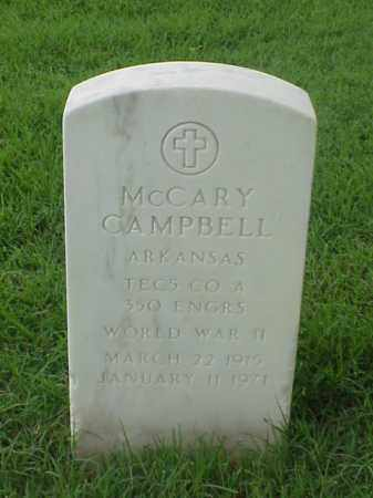 CAMPBELL (VETERAN WWII), MCCARY - Pulaski County, Arkansas | MCCARY CAMPBELL (VETERAN WWII) - Arkansas Gravestone Photos