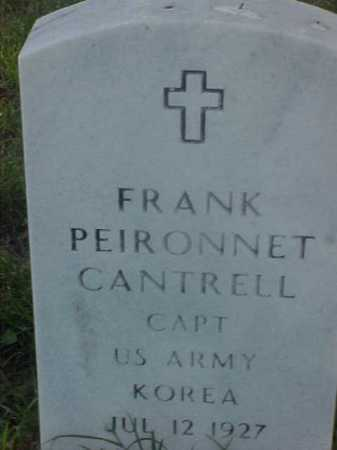 CANTRELL (VETERAN KOR), FRANK PEIRONNET - Pulaski County, Arkansas   FRANK PEIRONNET CANTRELL (VETERAN KOR) - Arkansas Gravestone Photos