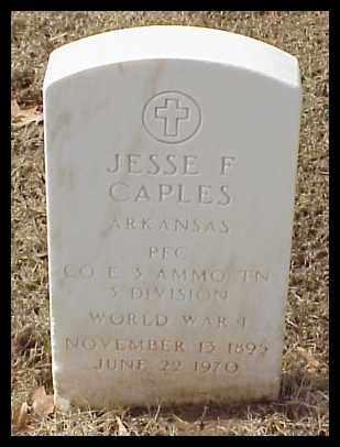 CAPLES (VETERAN WWI), JESSE F - Pulaski County, Arkansas | JESSE F CAPLES (VETERAN WWI) - Arkansas Gravestone Photos