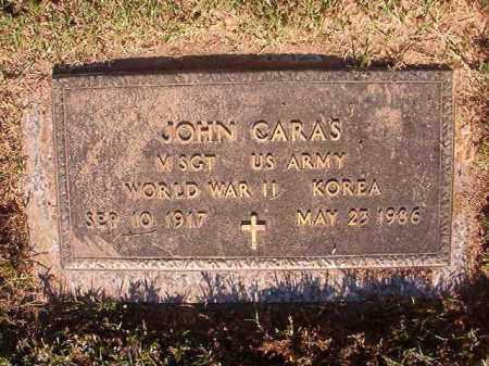 CARAS (VETERAN 2 WARS), JOHN - Pulaski County, Arkansas | JOHN CARAS (VETERAN 2 WARS) - Arkansas Gravestone Photos