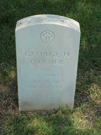 CARDER (VETERAN 2 WARS), GEORGE H - Pulaski County, Arkansas | GEORGE H CARDER (VETERAN 2 WARS) - Arkansas Gravestone Photos