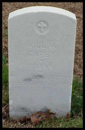 CAREY (VETERAN UNION), WILL A - Pulaski County, Arkansas | WILL A CAREY (VETERAN UNION) - Arkansas Gravestone Photos