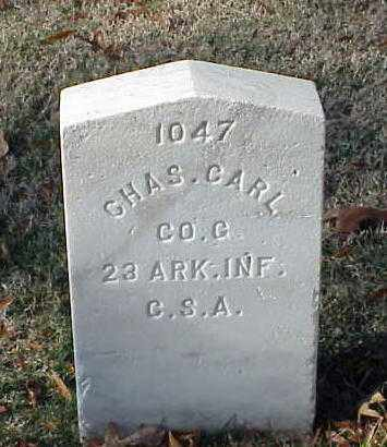 CARL (VETERAN CSA), CHARLES - Pulaski County, Arkansas | CHARLES CARL (VETERAN CSA) - Arkansas Gravestone Photos