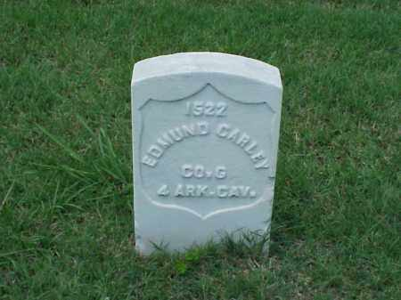 CARLEY (VETERAN UNION), EDMUND - Pulaski County, Arkansas | EDMUND CARLEY (VETERAN UNION) - Arkansas Gravestone Photos
