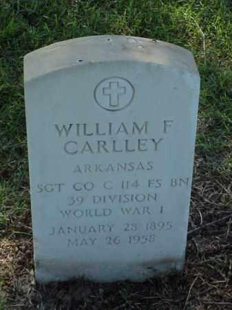 CARLLEY (VETERAN WWI), WILLIAM F - Pulaski County, Arkansas | WILLIAM F CARLLEY (VETERAN WWI) - Arkansas Gravestone Photos