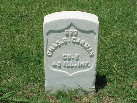 CARMAN (VETERAN UNION), CHARLES B - Pulaski County, Arkansas | CHARLES B CARMAN (VETERAN UNION) - Arkansas Gravestone Photos