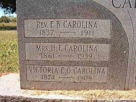 CAROLINA, VICTORIA E O - Pulaski County, Arkansas | VICTORIA E O CAROLINA - Arkansas Gravestone Photos