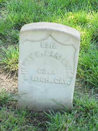 CARPENTER (VETERAN UNION), HENRY E - Pulaski County, Arkansas | HENRY E CARPENTER (VETERAN UNION) - Arkansas Gravestone Photos