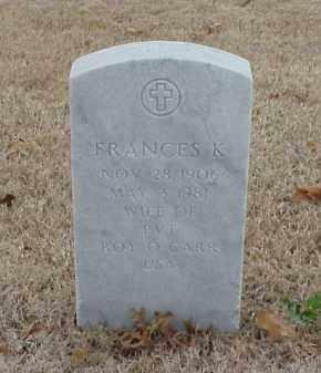 CARR, FRANCES K. - Pulaski County, Arkansas   FRANCES K. CARR - Arkansas Gravestone Photos