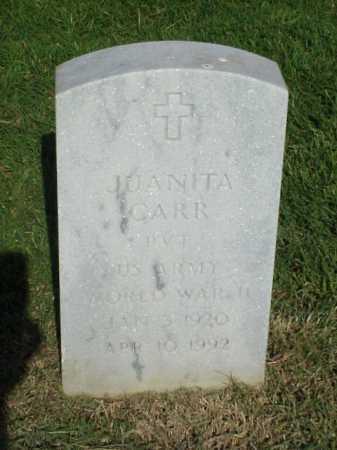 CARR (VETERAN WWII), JUANITA - Pulaski County, Arkansas | JUANITA CARR (VETERAN WWII) - Arkansas Gravestone Photos
