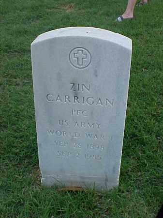 CARRIGAN (VETERAN WWI), ZIN - Pulaski County, Arkansas | ZIN CARRIGAN (VETERAN WWI) - Arkansas Gravestone Photos