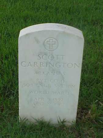 CARRINGTON (VETERAN WWI), SCOTT - Pulaski County, Arkansas | SCOTT CARRINGTON (VETERAN WWI) - Arkansas Gravestone Photos