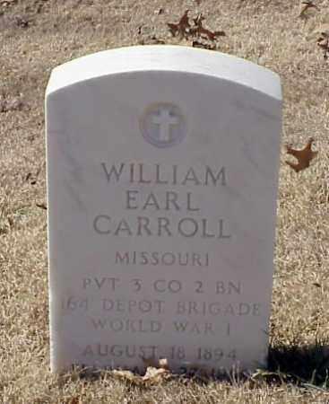 CARROLL (VETERAN WWI), WILLIAM EARL - Pulaski County, Arkansas | WILLIAM EARL CARROLL (VETERAN WWI) - Arkansas Gravestone Photos