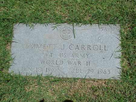 CARROLL (VETERAN WWII), EMMETT J - Pulaski County, Arkansas | EMMETT J CARROLL (VETERAN WWII) - Arkansas Gravestone Photos