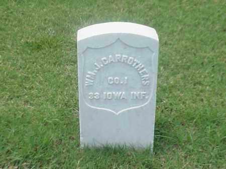 CARROTHERS (VETERAN UNION), WILLIAM J - Pulaski County, Arkansas | WILLIAM J CARROTHERS (VETERAN UNION) - Arkansas Gravestone Photos