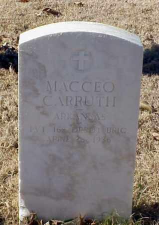 CARRUTH (VETERAN WWI), MACCEO - Pulaski County, Arkansas | MACCEO CARRUTH (VETERAN WWI) - Arkansas Gravestone Photos