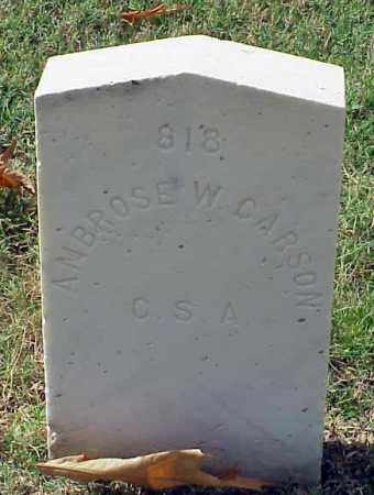 CARSON (VETERAN CSA), AMBROSE W - Pulaski County, Arkansas | AMBROSE W CARSON (VETERAN CSA) - Arkansas Gravestone Photos