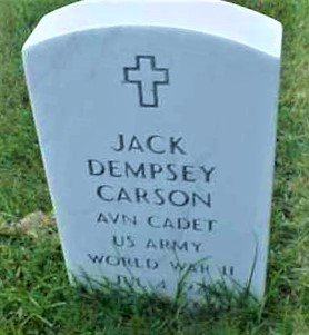 CARSON (VETERAN WWII), JACK DEMPSEY - Pulaski County, Arkansas | JACK DEMPSEY CARSON (VETERAN WWII) - Arkansas Gravestone Photos