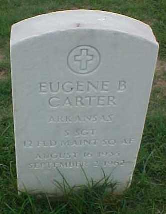 CARTER (VETERAN), EUGENE B - Pulaski County, Arkansas | EUGENE B CARTER (VETERAN) - Arkansas Gravestone Photos