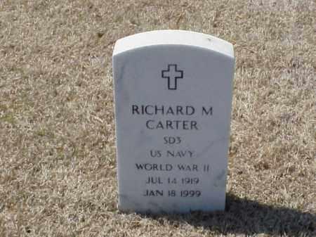 CARTER (VETERAN WWII), RICHARD M - Pulaski County, Arkansas | RICHARD M CARTER (VETERAN WWII) - Arkansas Gravestone Photos