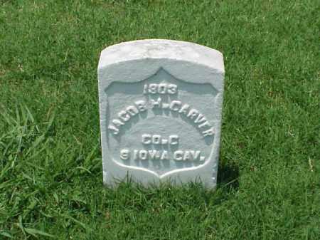 CARVER (VETERAN UNION), JACOB H - Pulaski County, Arkansas | JACOB H CARVER (VETERAN UNION) - Arkansas Gravestone Photos