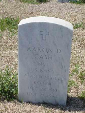CASH (VETERAN 2 WARS), AARON D - Pulaski County, Arkansas | AARON D CASH (VETERAN 2 WARS) - Arkansas Gravestone Photos