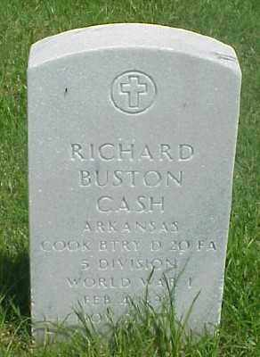 CASH (VETERAN WWI), RICHARD BUSTON - Pulaski County, Arkansas | RICHARD BUSTON CASH (VETERAN WWI) - Arkansas Gravestone Photos