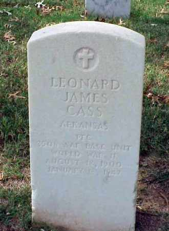 CASS (VETERAN WWII), LEONARD JAMES - Pulaski County, Arkansas | LEONARD JAMES CASS (VETERAN WWII) - Arkansas Gravestone Photos