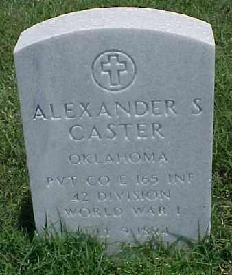 CASTER (VETERAN WWI), ALEXANDER S - Pulaski County, Arkansas   ALEXANDER S CASTER (VETERAN WWI) - Arkansas Gravestone Photos