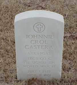 CASTERA  (VETERAN WWII), JOHNNIE CARROLL - Pulaski County, Arkansas | JOHNNIE CARROLL CASTERA  (VETERAN WWII) - Arkansas Gravestone Photos