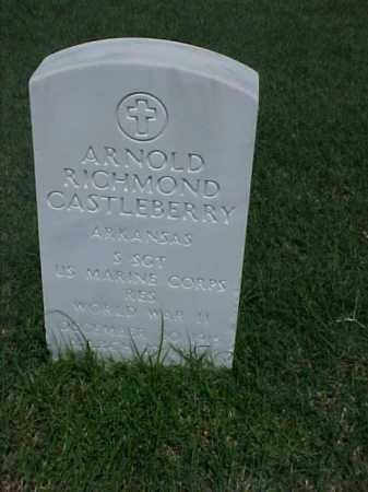 CASTLEBERRY (VETERAN WWII), ARNOLD RICHMOND - Pulaski County, Arkansas   ARNOLD RICHMOND CASTLEBERRY (VETERAN WWII) - Arkansas Gravestone Photos