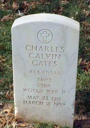 CATES (VETERAN WWII), CHARLES CALVIN - Pulaski County, Arkansas | CHARLES CALVIN CATES (VETERAN WWII) - Arkansas Gravestone Photos