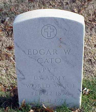 CATO (VETERAN WWI), EDGAR W - Pulaski County, Arkansas | EDGAR W CATO (VETERAN WWI) - Arkansas Gravestone Photos