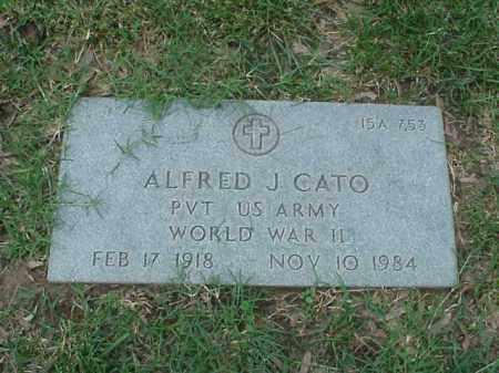 CATO (VETERAN WWII), ALFRED J - Pulaski County, Arkansas   ALFRED J CATO (VETERAN WWII) - Arkansas Gravestone Photos