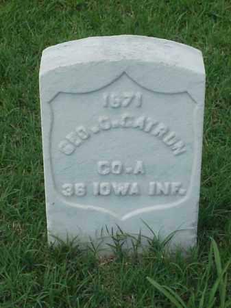 CATRON (VETERAN UNION), GEORGE O - Pulaski County, Arkansas | GEORGE O CATRON (VETERAN UNION) - Arkansas Gravestone Photos