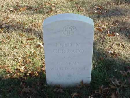 CERRATO (VETERAN WWII), FRED M - Pulaski County, Arkansas | FRED M CERRATO (VETERAN WWII) - Arkansas Gravestone Photos
