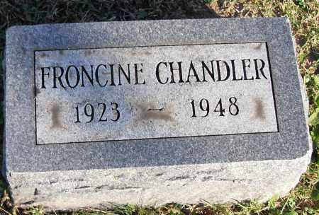 CHANDLER, FRONCINE - Pulaski County, Arkansas | FRONCINE CHANDLER - Arkansas Gravestone Photos