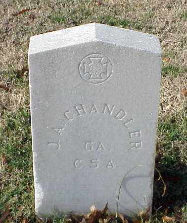 CHANDLER (VETERAN CSA), J A - Pulaski County, Arkansas | J A CHANDLER (VETERAN CSA) - Arkansas Gravestone Photos