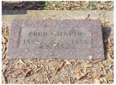 CHAPIN, FREDERICK - Pulaski County, Arkansas | FREDERICK CHAPIN - Arkansas Gravestone Photos