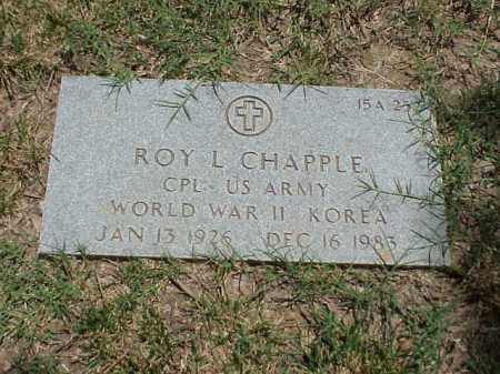 CHAPPLE (VETERAN 2 WARS), ROY L - Pulaski County, Arkansas   ROY L CHAPPLE (VETERAN 2 WARS) - Arkansas Gravestone Photos