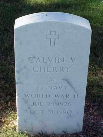 CHERRY (VETERAN WWII), CALVIN V - Pulaski County, Arkansas | CALVIN V CHERRY (VETERAN WWII) - Arkansas Gravestone Photos