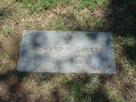 CHERRY (VETERAN WWII), RICHARD W - Pulaski County, Arkansas | RICHARD W CHERRY (VETERAN WWII) - Arkansas Gravestone Photos