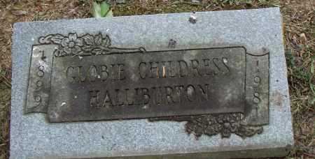 CHILDRESS HALLIBURTON, GLOBIE - Pulaski County, Arkansas   GLOBIE CHILDRESS HALLIBURTON - Arkansas Gravestone Photos