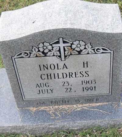 CHILDRESS, INOLA H - Pulaski County, Arkansas | INOLA H CHILDRESS - Arkansas Gravestone Photos